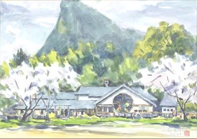 小鳩の家保育園 風景画